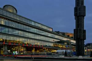 Kulturhuset och Fontänen vid Sergels Torg